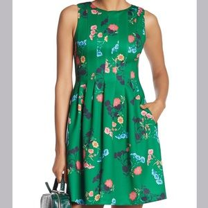 Vince Camuto floral fit and flare scuba dress